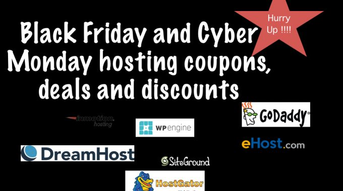 Black Friday/ Cyber Monday 2017 Web Hosting Deals