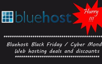 Bluehost Black Friday/ Cyber Monday web hosting sale 2016